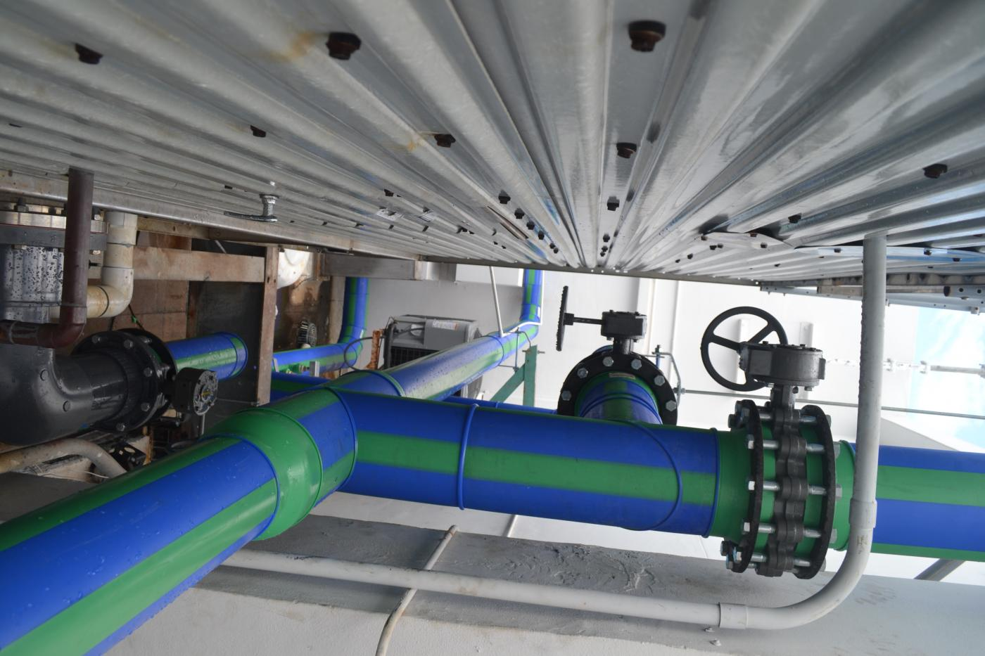Aquatherm piping installation